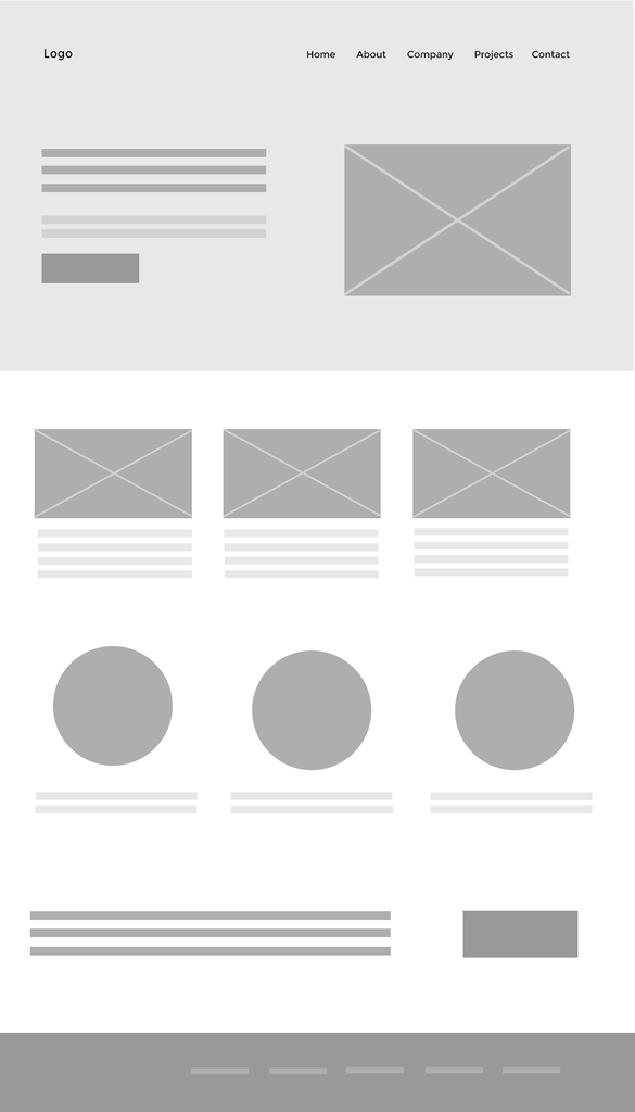 wireframe pour intégration web